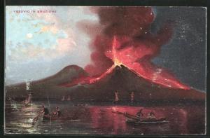 AK Vesuvio in Eruzione, Vulkanausbruch