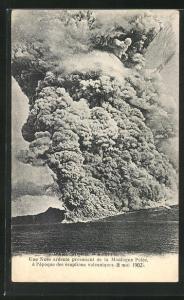 AK Saint-Pierre, Une Nuée provenant de la Montagne Pelée..., Vulkanausbruch 1902