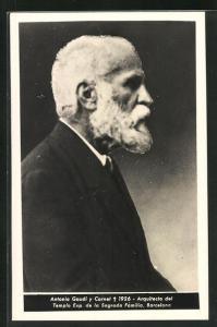 AK Portrait des Malers Antonio Gaudi y Cornet