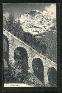 AK Viadukt mit Mürrenbahn