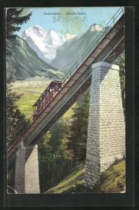 AK Interlaken, Viadukt mit Harderbahn