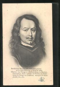 AK Portrait des Malers Barthélémy -Esteban Murillo