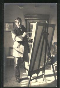 AK Maler Joan Llimona vor seinem Bild