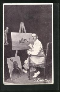 AK Maler G.P. Humtley in Aktion