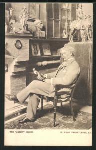 AK Maler W. Hamo Thornycroft auf einem Stuhl
