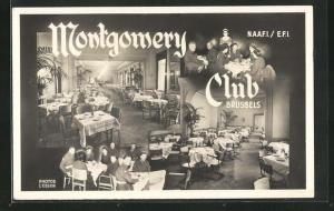 AK Brussels, Montgomery Club, Innenansicht