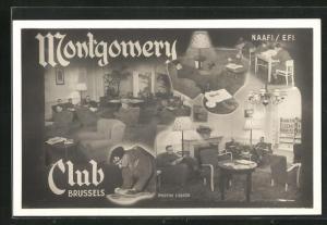 AK Brussels, Montgomery Club, Salon und Lesezimmer