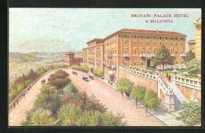 Künstler-AK Perugia, Brufani-Palace Hotel & Bellavista