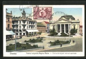 AK Oradea, Teatrul oräsenesc Regina Maria, Blick auf Parkanlage