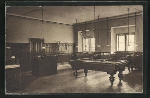 AK Wien, Theresianische Akademie, Eine Kamerate, Favoritenstr. 15, Billardtisch