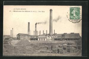 AK Montceau-les-Mines, Une Mine, rauchende Schlote