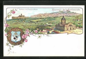 Lithographie Assisi, Notre Dame des Anges, Tombeau de S. Francois-Assisi