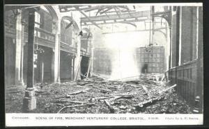 AK Bristol, Scene of the Fire 1906, Merchant Venturers College
