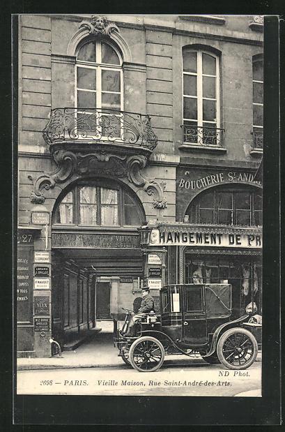 AK Paris, Vieille Maison, Rue Saint-André-des-Arts 0