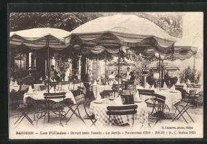AK Barbizon, Les Pleiades, Ouvert toute l`annee, Le Jardin, Restaurant d`Ete