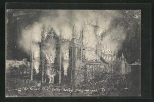 AK Selby, Selby Abbey, The Great Fire 1906