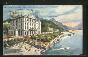 Künstler-AK Bellagio, Splendide Hotel