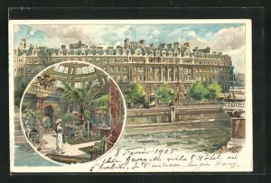 Künstler-AK London, De Keysers Royal Hotel, The Lounge