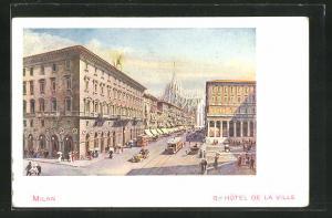 Künstler-AK Milan, Grand Hotel de la Ville