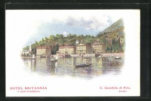 Künstler-AK Cadenabbia, Hotel Britannia