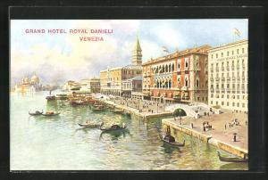 Künstler-AK Venezia, Grand Hotel Royal Danieli