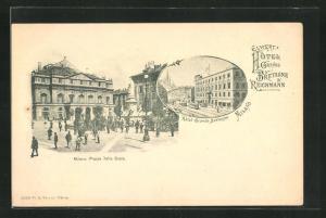 AK Milano, Hotel Grande Bretagne & Reichmann, Piazza della Scala