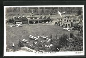 AK Bekonscot, The Aerodrome, Modell-Flughafen
