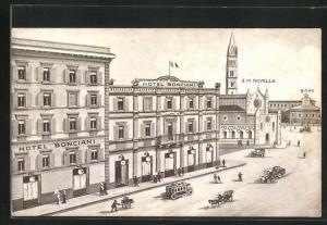 AK Firenze, Hotel Bonciani in Bahnhofsnähe
