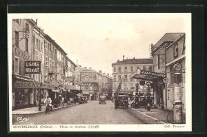AK Montélimar, Place et Avenue d`Aygü