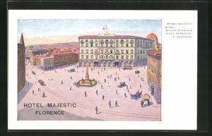 AK Florenz, Ansicht vom Hotel Majestic