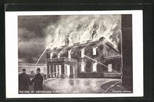 AK Hemel Hempstead, House Gaddesden Place, Fire Feb. 1st 1905