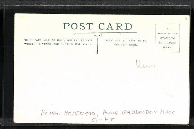 AK Hemel Hempstead, House Gaddesden Place, Fire Feb. 1st 1905 1