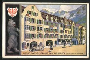 AK Innsbruck, Gasthof Grauer Bär, Universitäts-Strasse
