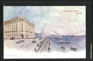 AK Naples / Napoli, Blick auf das Excelsior Hotel