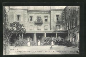 AK Avranches, Interieur de l`Hotel de France et de Londres reunis