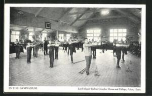 AK Alton, Lord Mayor Treloar Cripples` Home and College, In the Gymnasium
