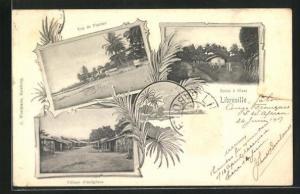 AK Libreville, Village d'indigenes, vue de Plateau, Route a Glass