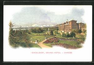 Künstler-AK Varese, Grand Hotel Excelsior