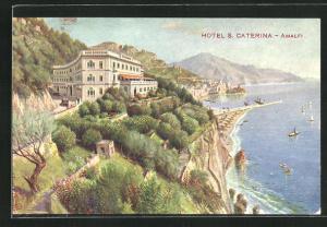 Künstler-AK Amalfi, Hotel S. Caterina