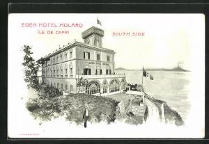 Lithographie Capri, Eden Hotel Molaro