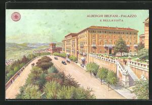 Künstler-AK Perugia, Alberghi Brufani-Palazzo e Bellavista