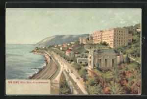 Künstler-AK San Remo, Hotel Royal et la Promenade