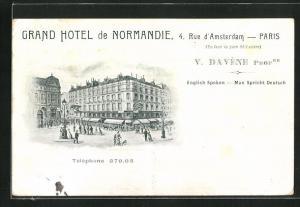 Künstler-AK Paris, Grand Hotel de Normandie