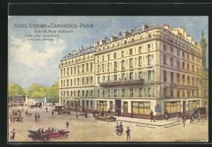 Künstler-AK Paris, Hotel Oxford Cambridge et Rue d'Alger