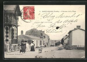 AK Saint-Gilles, l'Avenue de la Plage