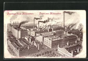 Lithographie Milwaukee, WI, the Pabst Brewery