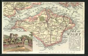 AK Isle of Wight, Landkarte, Carisbrooke Castle