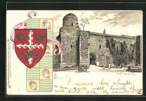 Lithographie Colchester, The Castle, Wappen