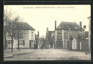 AK Sougé-le-Ganelon, Place et rue du Puits-Forgé