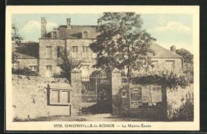 AK Omonville-la-Rogue, La Mairie-Ecole